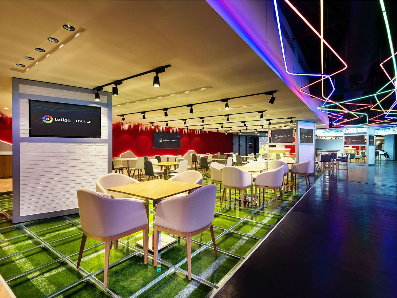 LaLiga Lounge Doha dining area